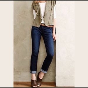 AG Anthropologie Stevie Roll - Up Skinny Jeans